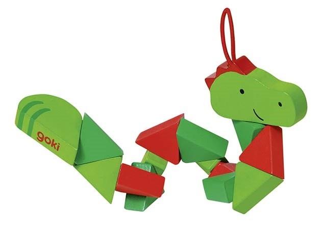 Puzzle skládačka - krokodýl