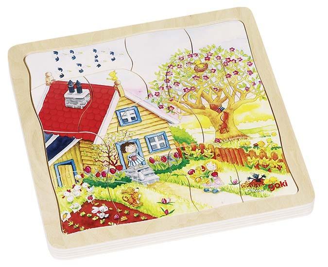 Vícevrstvé puzzle - Roční období