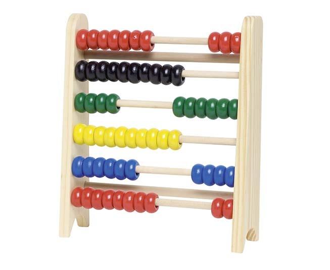 Počítadlo s 60 dřevěnými perličkami