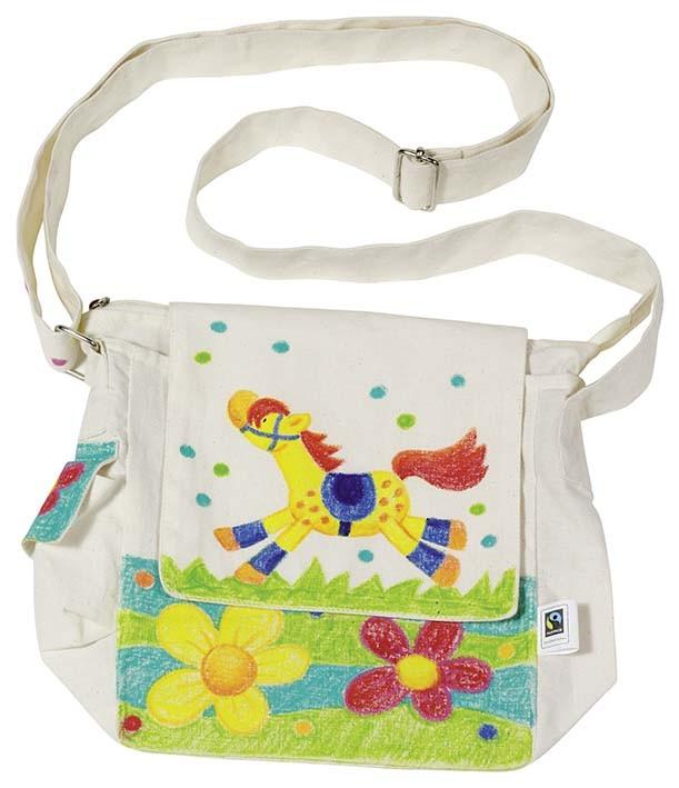 Bavlněná taška přes rameno k vymalování