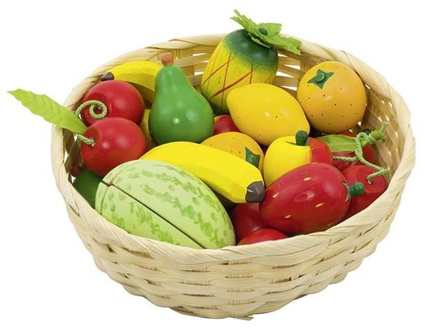 Dětský krámek - ovoce v košíku, 23 ks