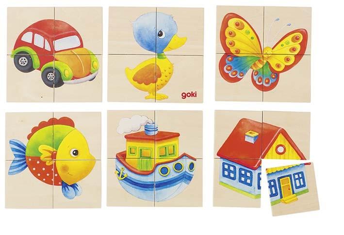 Puzzle a paměťová hra rybka, kačenka - 24 díly