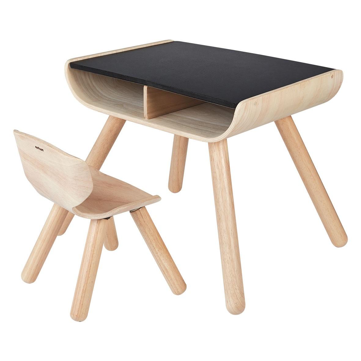 Dětský stolek se židlí - černý