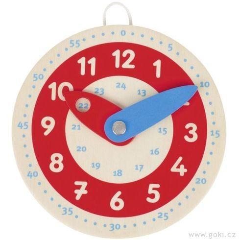 Dřevěné hodiny 10 cm