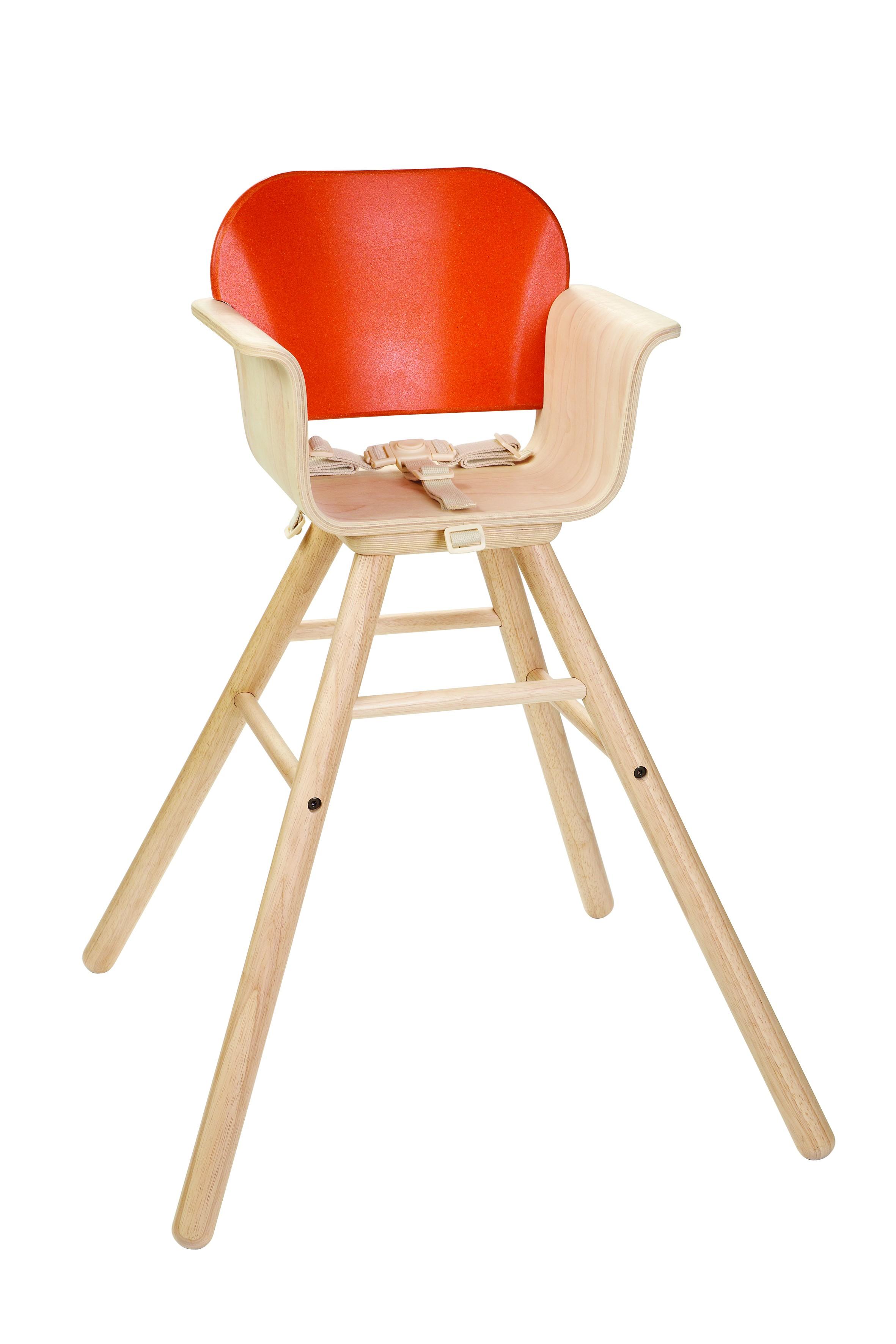 Dětská jídelní židle - oranžová