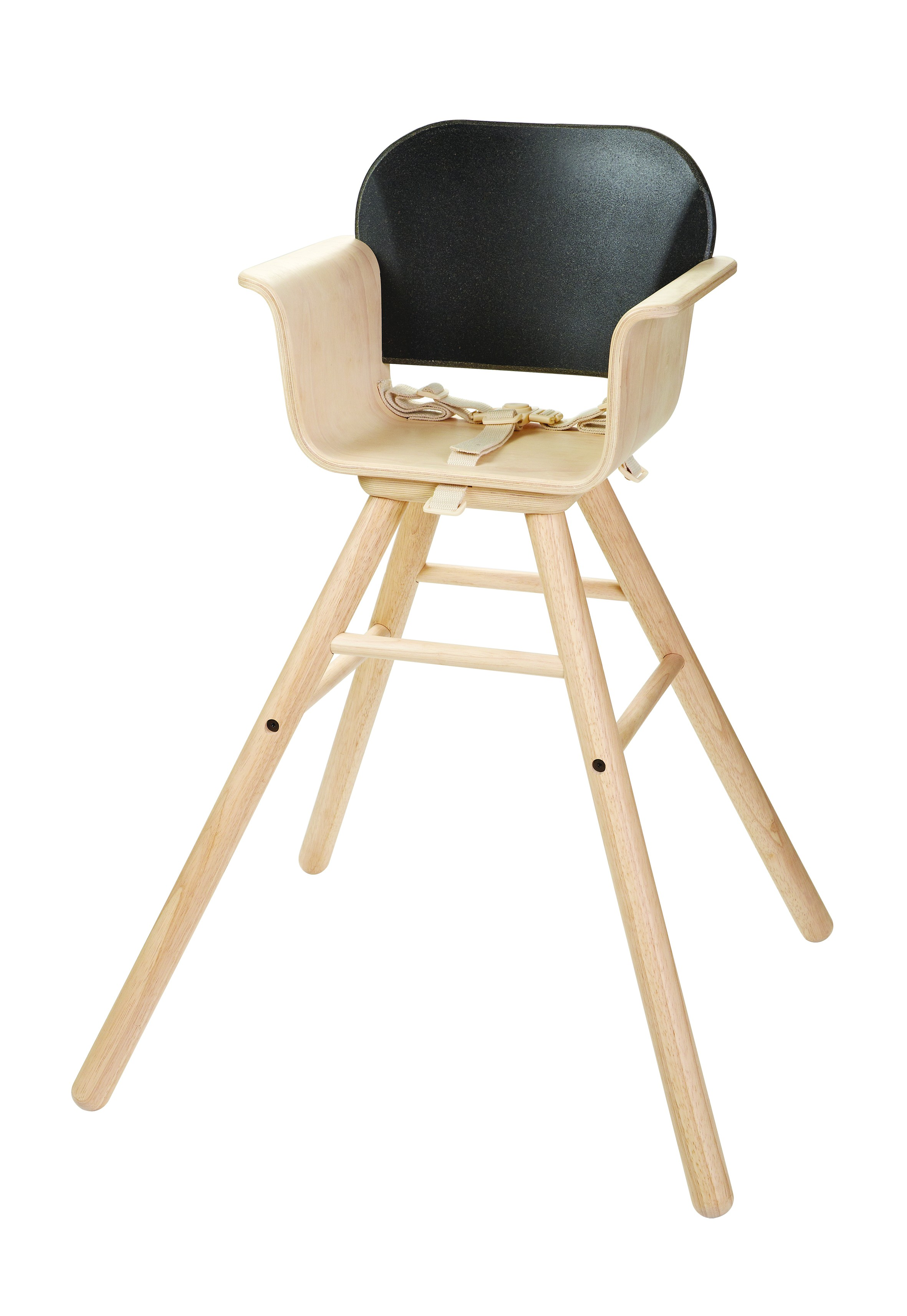 Dětská jídelní židle - černá
