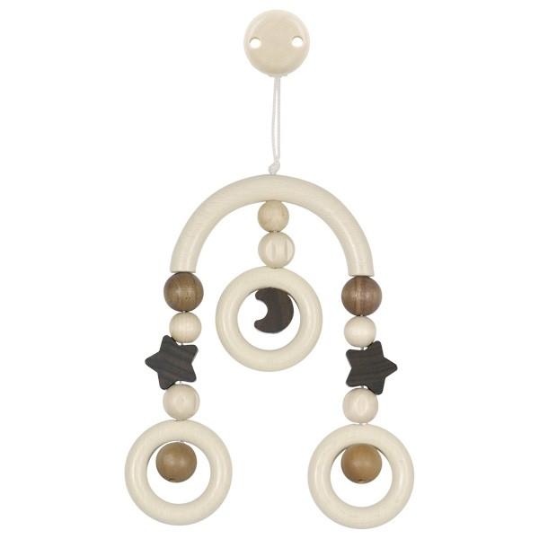 Dřevěný kolotoč pro miminka - měsíc a hvězdy