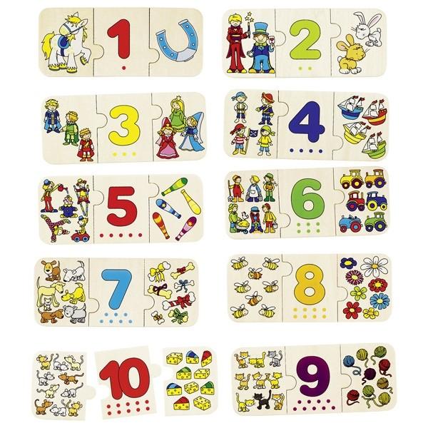 Puzzle - počítání a přiřazování