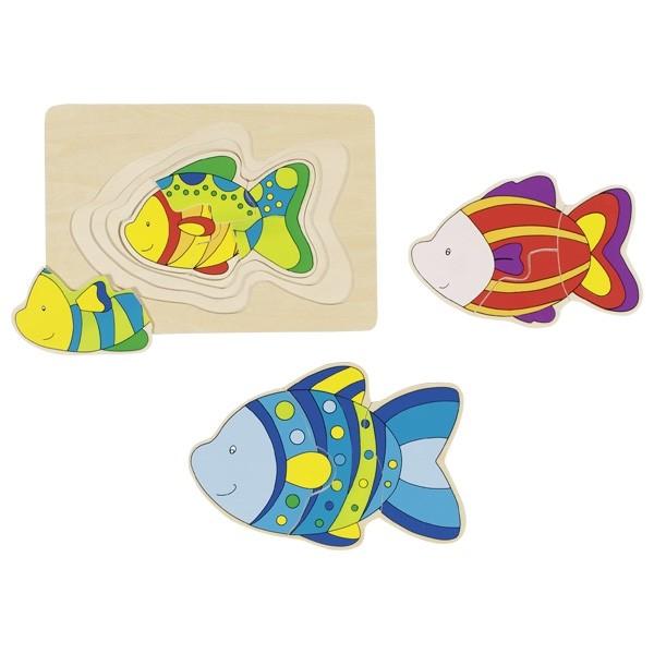 Vrstvené puzzle - ryby