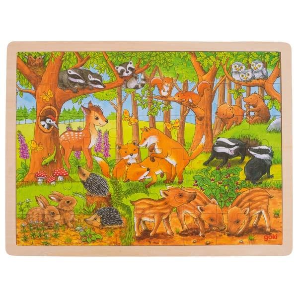 Puzzle - mláďata v lese