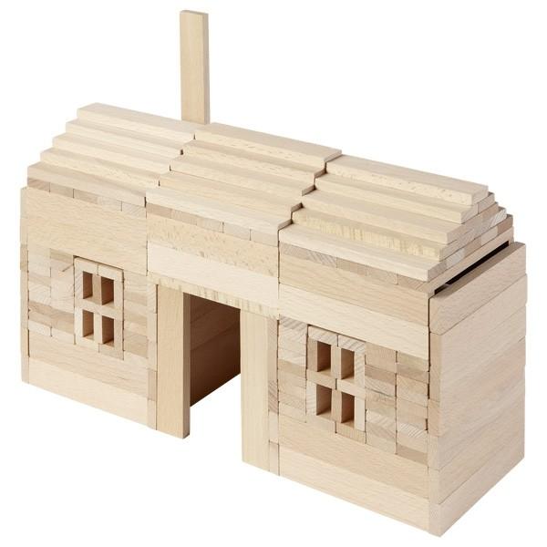 Dřevěná stavebnice - přírodní kostky
