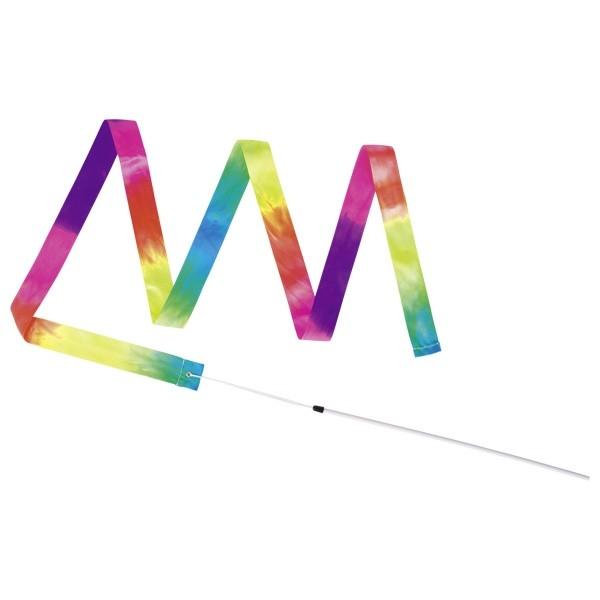 Gymnastická stužka s hůlkou – duha