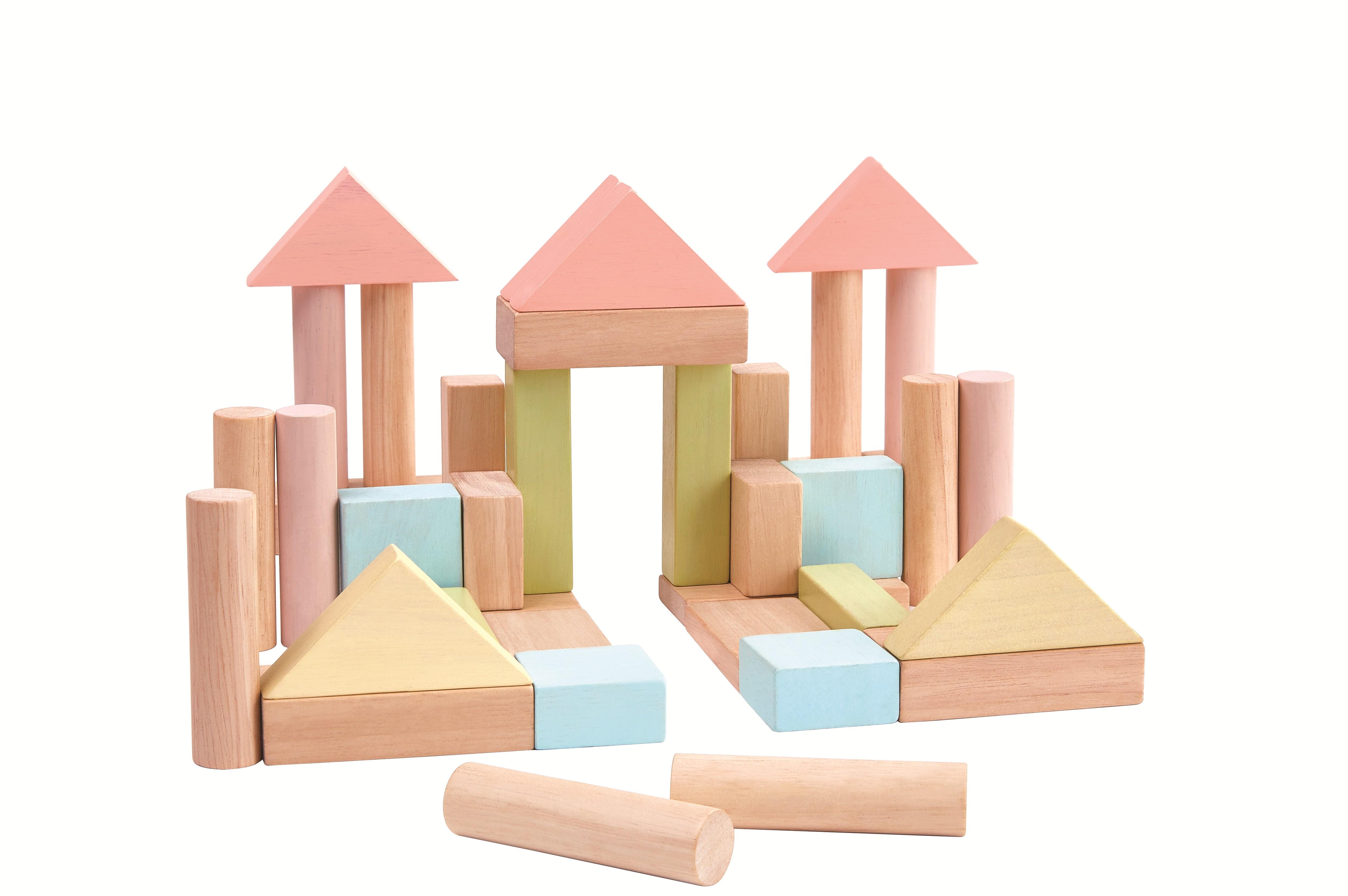 Stavební kostky 40 ks (pastelové)