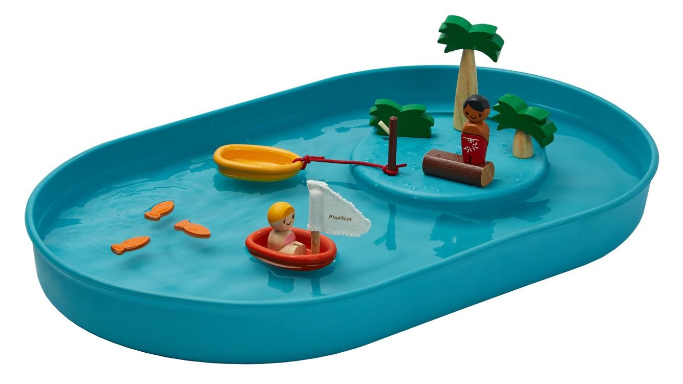 Vodní hra s jezírkem