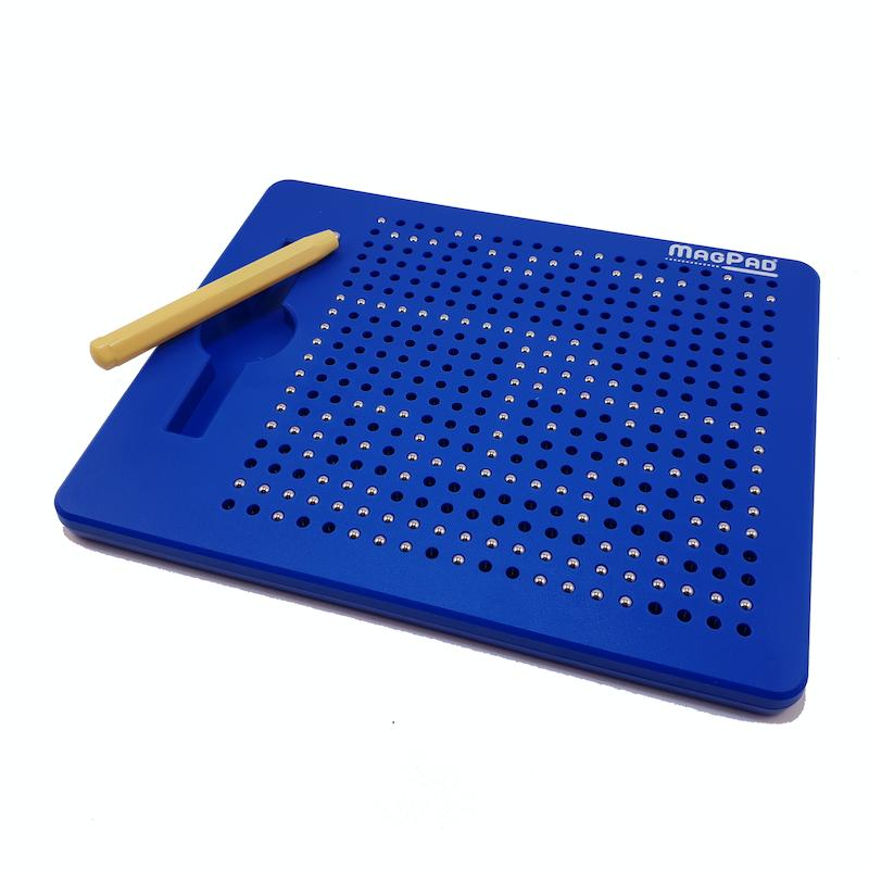Magnetická kreslící tabulka Magpad - modrá - 380 kuliček
