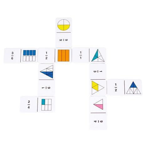 Domino - barevné zlomky