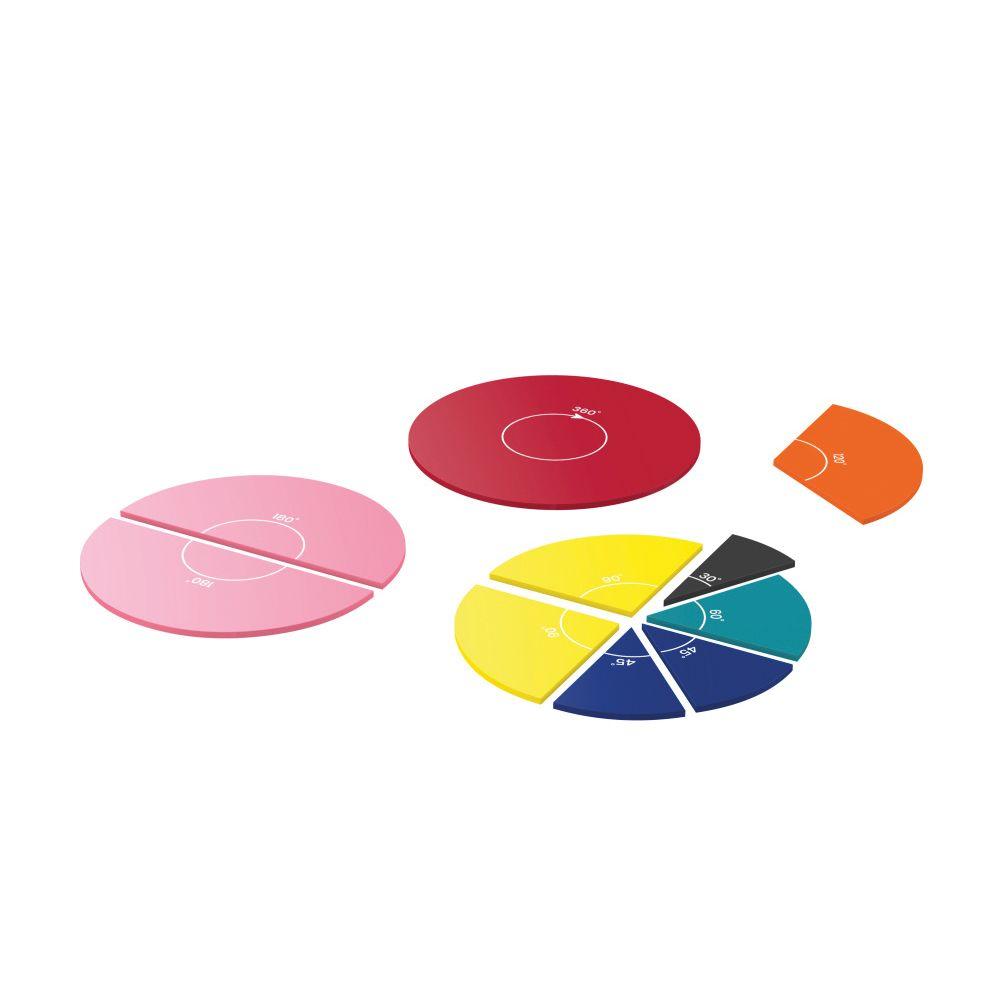 Barevné kruhy s úhly (set 6 ks)
