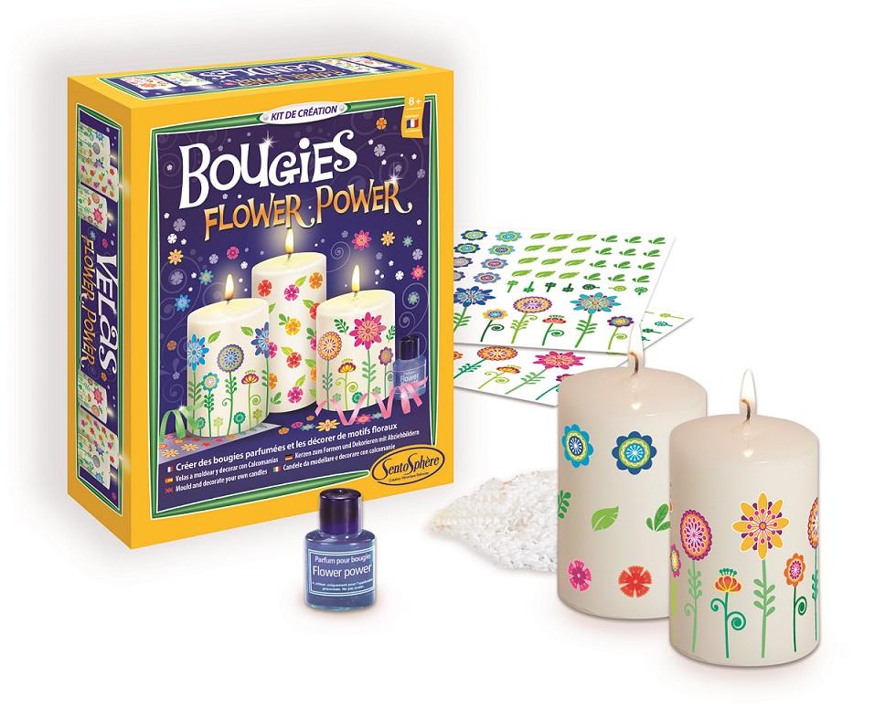 Výroba svíček - květinový motiv