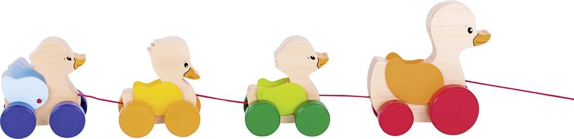 Dřevěná tahací hračka – Kačenky